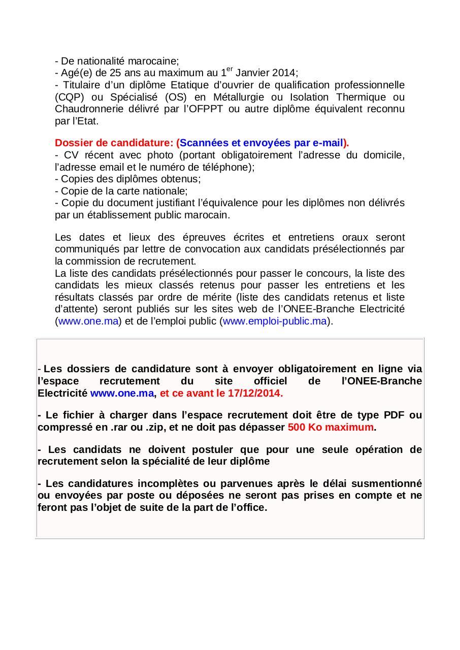Concour par admin fichier pdf - Office national de l electricite et de l eau potable ...