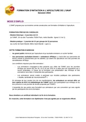 fiche inscription formation 2015