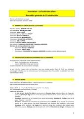 proces verbal du 17 octobre 2014