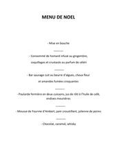 menu de noel 2014