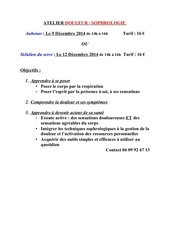 atelier douleur sophrologie dec2014
