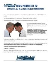 lmc news intensite d entrainement juin2014