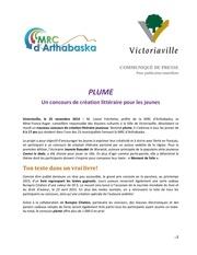 communique plume 2014