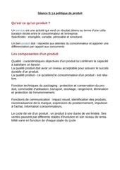 Fichier PDF la politique du produit