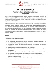 Fichier PDF assistant de projets internationaux temps plein