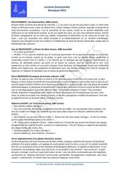bruniquel 2013 lectures gourmandes