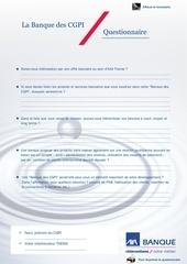 questionnaire la banque des cgpi dynamique