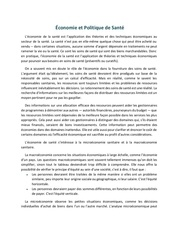 economie et politique de sante seance 3