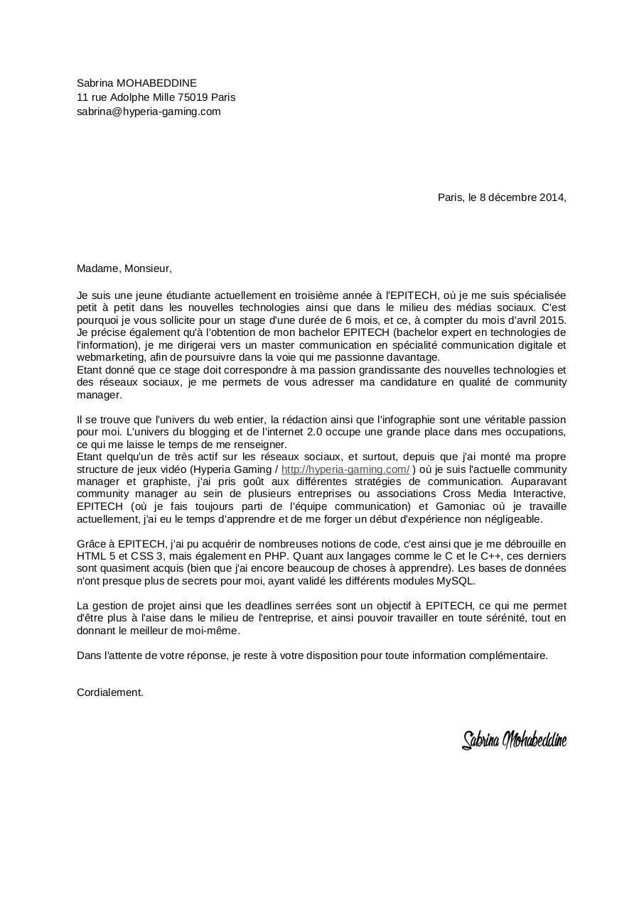 lettre de motivation par prymael