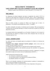 reglement interieur salles de maron 20 11 2014