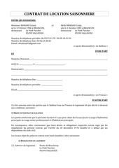 contrat de location chez dany