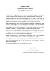 liturgie du souvenir st louis des invalides dimanche 1er mars 2015 a 11h00