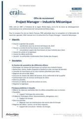 project manager mecaniqueerai vietnam