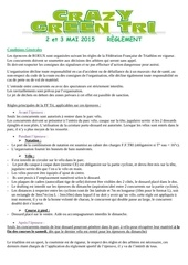 reglement inscription crazy green tri 2015
