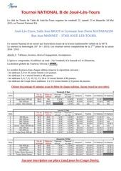reglement tournoi jouelestours 2015