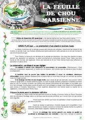 feuille de chou marsienne 2 novembre 2014