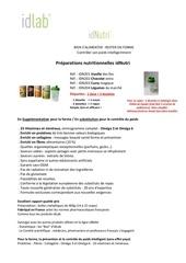 idnutri les preparations nutritionnelles