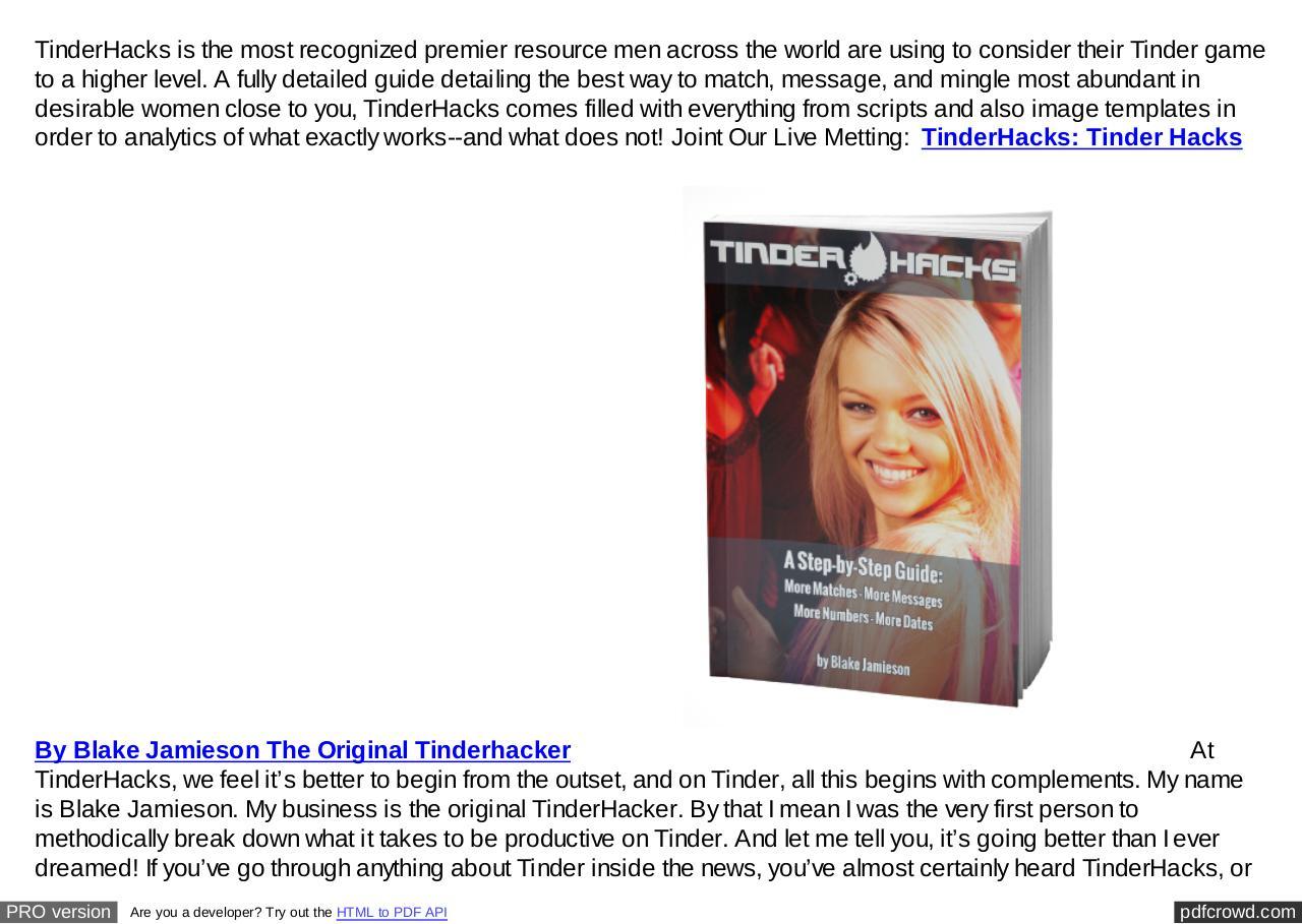 tinder guide pdf