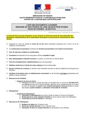 vtd etudiants etudes liste des documents