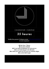 candidature curateur