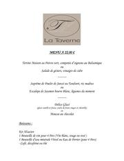 Fichier PDF menu la taverne