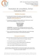 afpb inscriptions et calendrier 2015