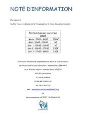 Fichier PDF tarifs periscolaire