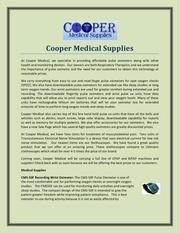 cooper medical supplies