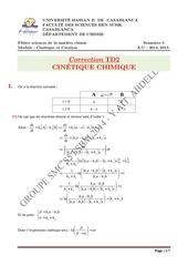 corrige td2 cinetique chimique smc s5