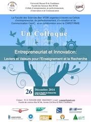 Fichier PDF entrepreneuriat et innovation leviers et valeurs