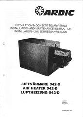 ardic luftheizung 042 d installations