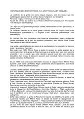 Fichier PDF historique reel grotte chauvet resume
