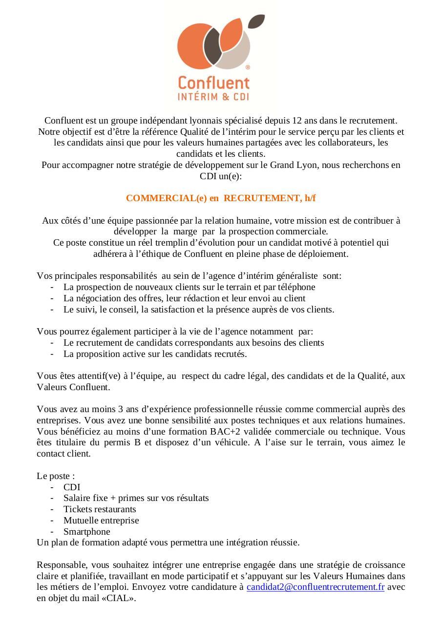Annonce commercial en recrutement par herve fichier pdf - Cabinet recrutement lyon commercial ...