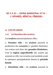 cours magistral n 12