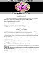 reglement le tremplin des artistes 2015