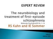 schizophrenie expert review sabe michel
