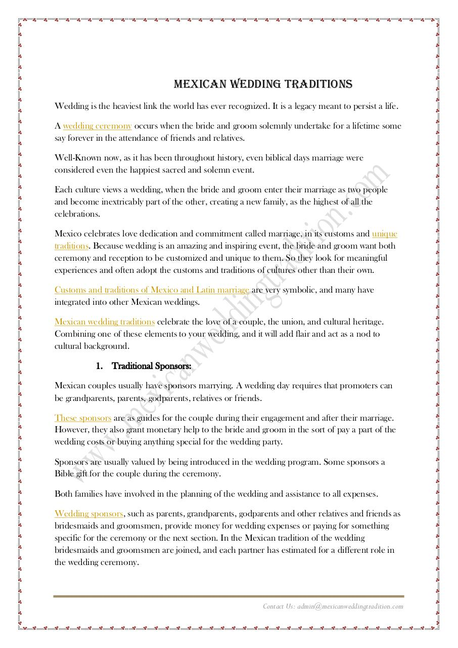 Mexican Wedding TRaditions.pdf - page 2/8