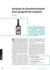 analyse du fonctionnement d un programme suspect