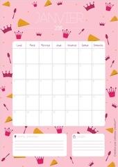 calendrier janvier laitfraisecreation