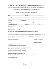Fichier PDF demande de licence fasm2014