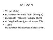 les nerfs craniens partie2