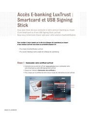 luxtrust smartcard et usb signing stick