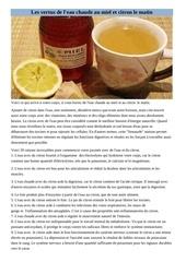 les vertus de l eau et citron le matin