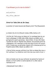 Fichier PDF les khawarij ou la ruse du diable