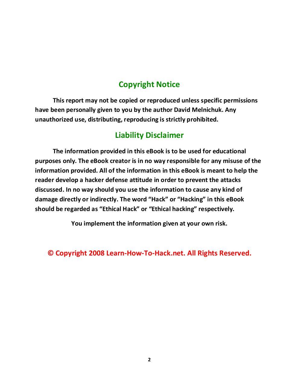 The Underground Hacker's Handbook - Fichier PDF