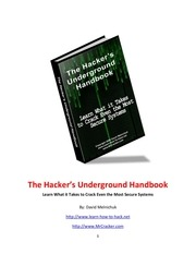 the underground hacker s handbook