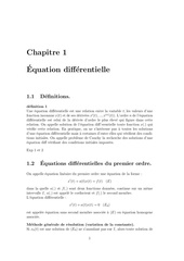 cours eq differentielle