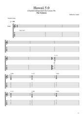 hawaii 5 0 uke lesson 38 laharl guitare rythmique 2 capo