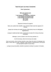 Fichier PDF saute de porc aux deux moutardes
