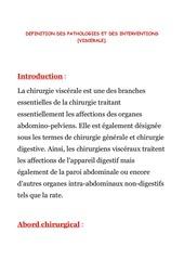 1 viscerale definition des pathologies et interventions